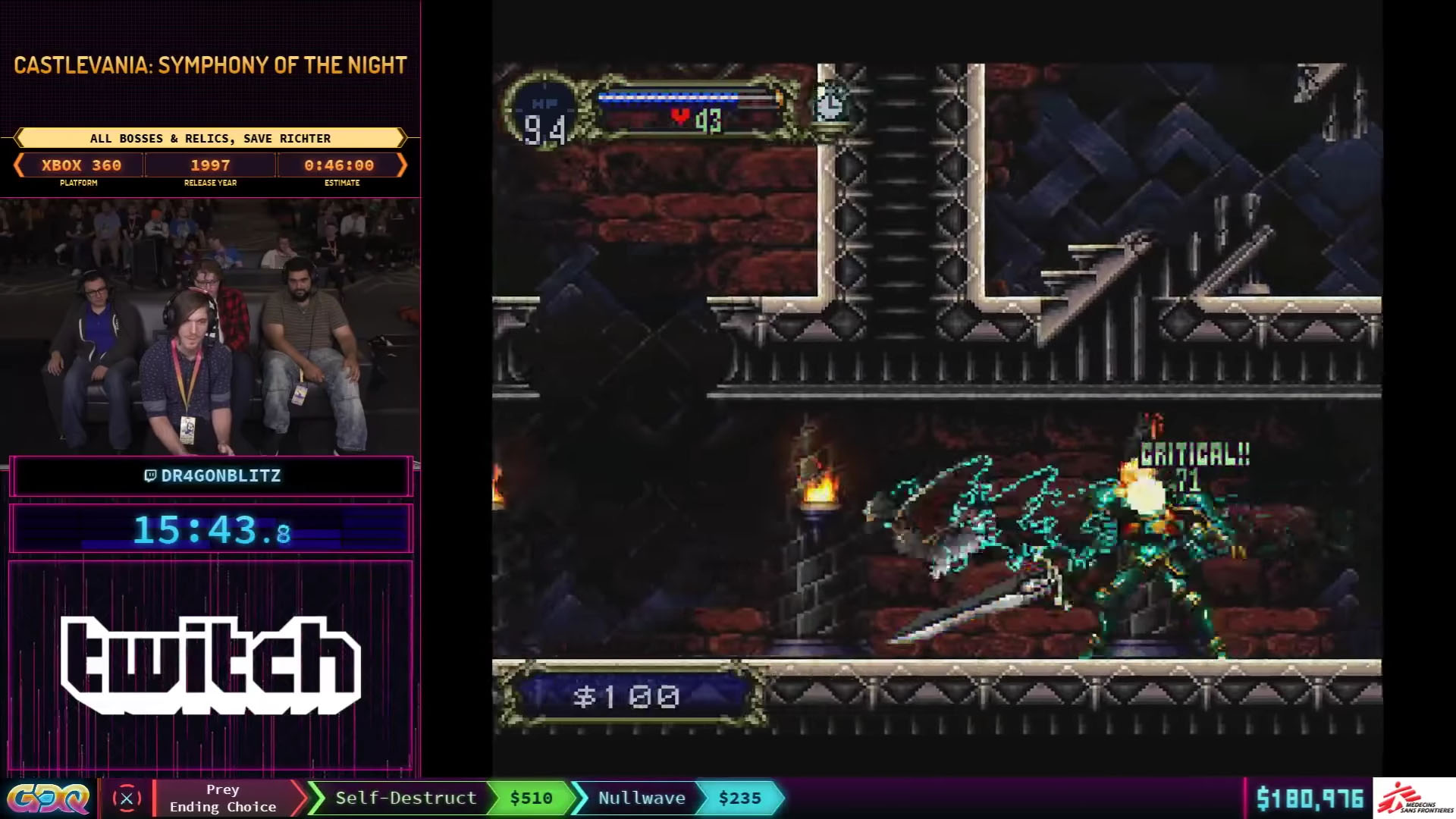 Castlevania: Symphony of the Night All Bosses Save Richter